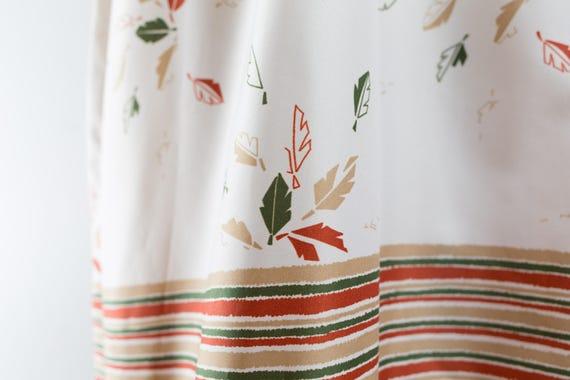 Vintage 60's Autumn Dress / White Polyester Fall … - image 4