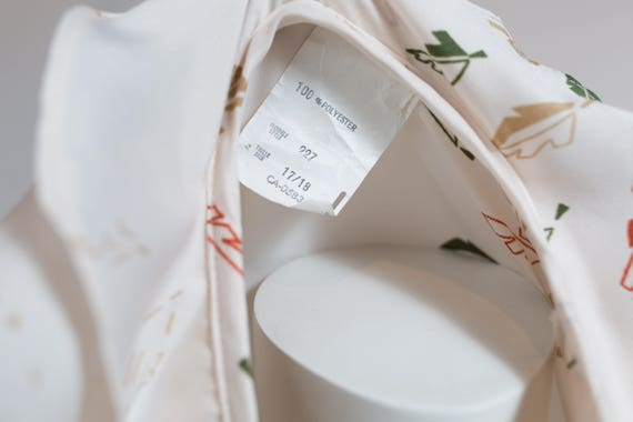 Vintage 60's Autumn Dress / White Polyester Fall … - image 10