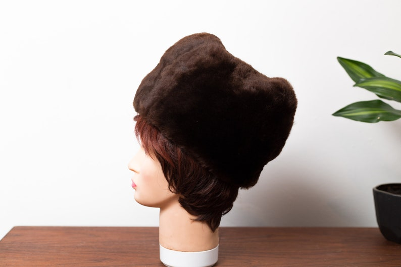 3c56ed0ae Vintage Ladies/Mens Fur Hat - 1950's Canadian Small Fur Women's Hat -  Winter Party Hat - Made in Canada by Biltmore