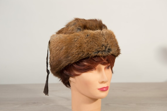 Vintage Ladies Mink Hat 1950/'s