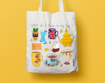 Tote bag Tea Time