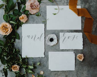 Blush Floral Wedding Invitation Mockup Styled Stock Photo Etsy
