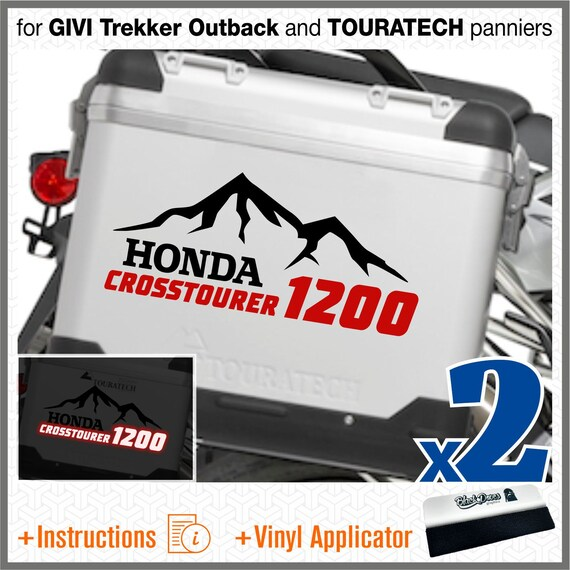 2pcs R 1200 GS BMW Motorrad R1200 Adventure ADESIVI R1200GS for Touratech GIVI Trekker Outback Panniers Black//Blue