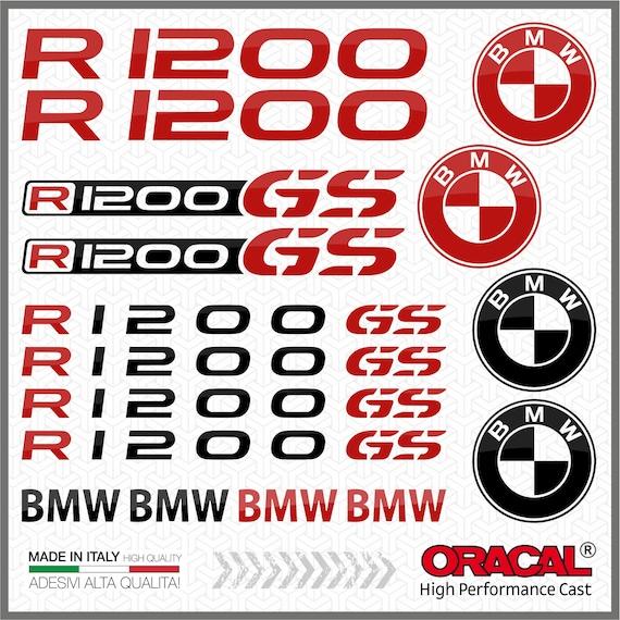 2x R1200GS Black//Blue BMW Aufkleber R1200 GS Pegatina Sticker Autocollant R 1200