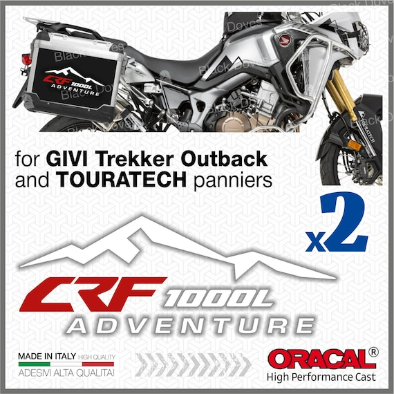 2x Honda VFR 1200 Crosstourer Black//Red for GIVI Trekker Outback and TOURATECH