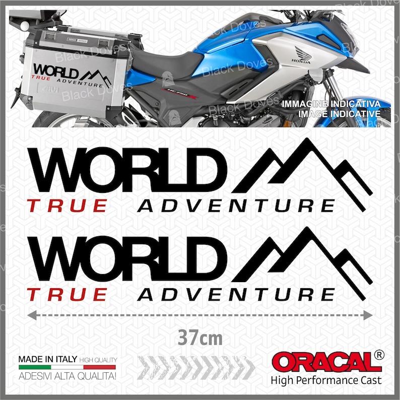 2 x World BMW KTM yamaha honda suzuki BlackRed true ADVENTURE image 0