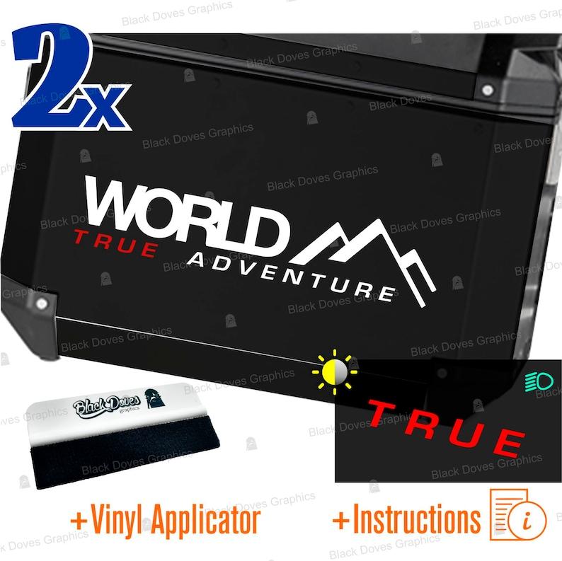 2pz Universal Grey WORLD Tru ADVENTURE Stickers Compatible image 0
