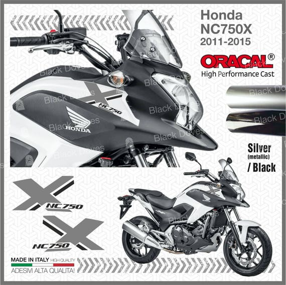 2x Two Colored Nc750x Honda 2011 2015 Stickers Adhesives Etsy