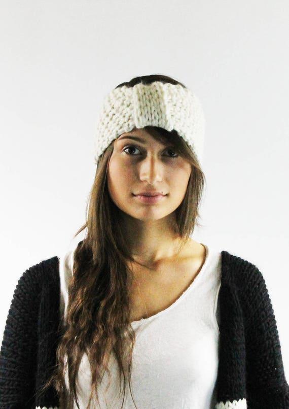 d29d41c2fd9 Hand knitteds headband WILLMA hand knit Ear Warmer Womens