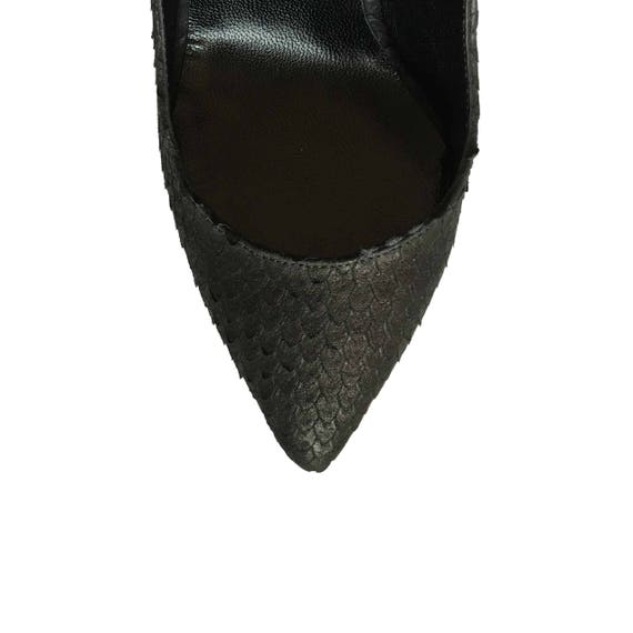 Pumps stiletto 10 41 Embossed Black Blake 39 heels 42 Genuine Edza High Heel 11 40 8 9 Leather 80Sqxwa
