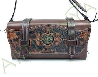 Steam Croix Nimbée leather bag