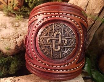 Khal Drogo_ Merovingian leather bracelet