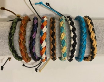 Braided rope bracelet 3 for 10 dollars friendship bracelet stocking stuffer gift for him gift for her