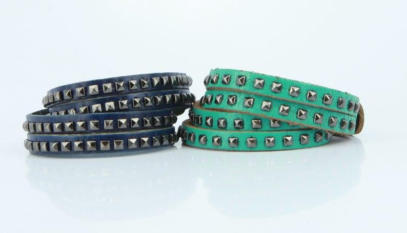 2818febab1f Stud Wraparound Leather Bracelet Balenciaga Matchesfashion -> Source. Image  0