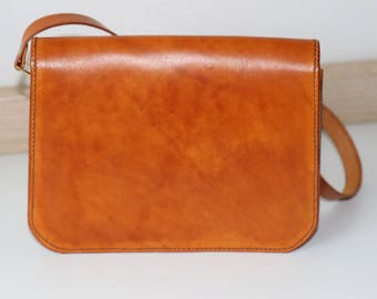 Hand-stitched Leather Handbag