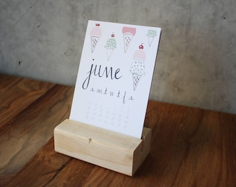 Mini Desk Calendar Etsy