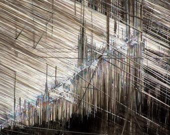 Silver Rutile in Quartz - Photomicrograph