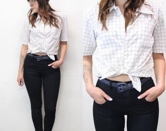 60s Short Sleeve Button Up