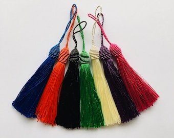 several colors 2 tassels or PomPoms 75mm rayon 12531 am