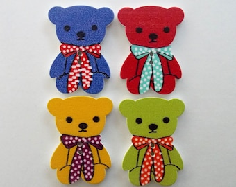 18 to 50 Baby Teddy Bear Novelty Buttons Kids Craft Knitting Sewing