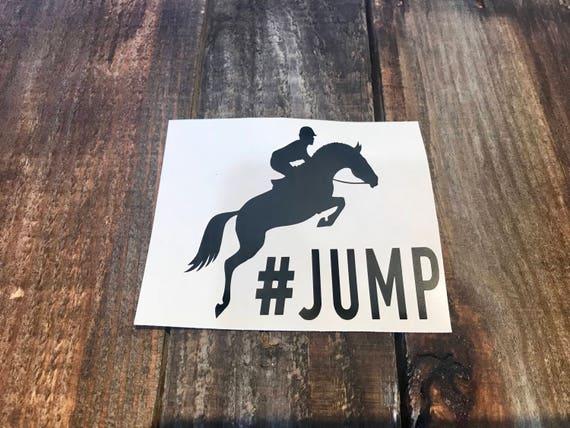 STATE NEW JERSEY Hunter Jumper Horse Rider Vinyl Decal Sticker A