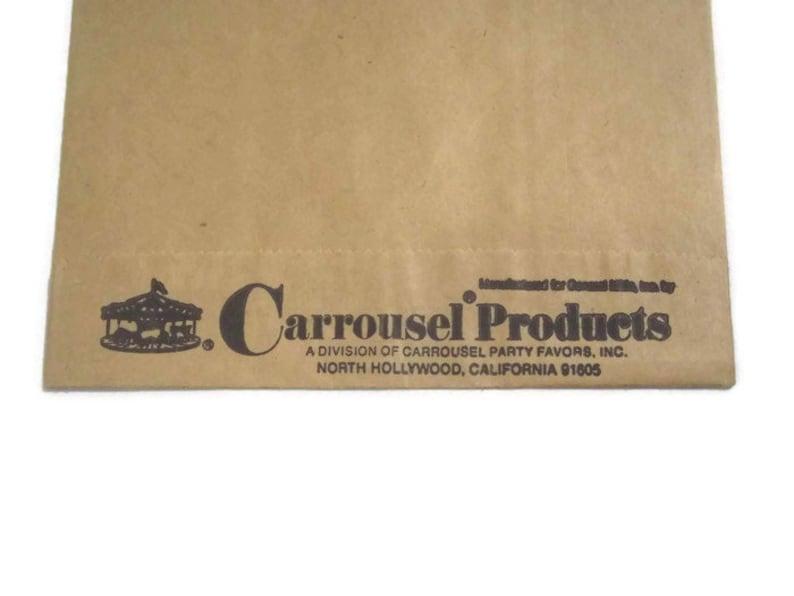 Trix 5 Brown Paper Lunch Bags Featuring Trix Rabbit 12.5 x 5.5 Vintage NOS