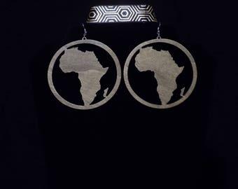 Wooden Afraka earrings