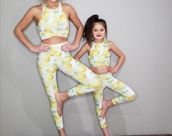 e1ffc4639cc3cd Matching yoga outfit / matching outfit / matching leggings / mommy and me /  mother and daughter / yoga pants / sportswear / leggings