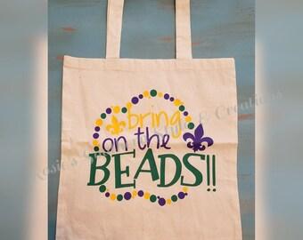Personalized Mardi Gras Bag Canvas Tote