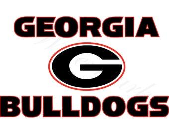 Georgia Bulldogs Svg Etsy