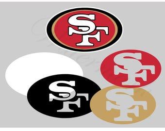 San Francisco SVG and Studio 3 Cut File Cutouts Files - Logo Stencil  Silhouette Cricut File SVGS - Stencils Decals 49er 49ers Football 0d8a30447