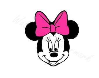 Mouse SVG Studio 3 Outline Cut File For Cricut Silhouette Designs Disney Logo Logos Design Cutout SVGs Cutouts Files Downloads Minnie