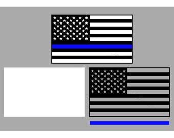 Flag SVG and Studio 3 Cut File Decal Cut Files Logo for Silhouette Cricut US Flags Cuts Svgs United States of America Police Thin Blue Line
