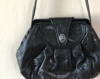 fierce faux leather 90s boho crossbody bag