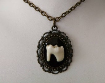 Real Raccoon Tooth Pendant, 114