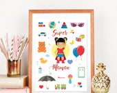 Affiche Super maman, affi...