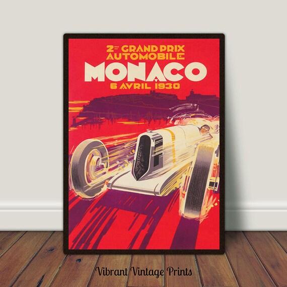 20x30 Monaco 1930 Grand Prix Automobile Grand Prix Road Racing Poster
