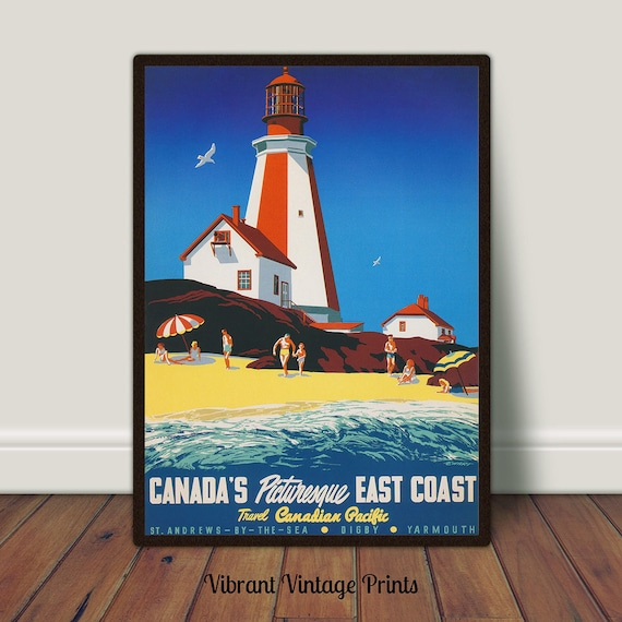 GREAT YARMOUTH TRAVEL POSTER ocean sailboats lady in hat 24X36