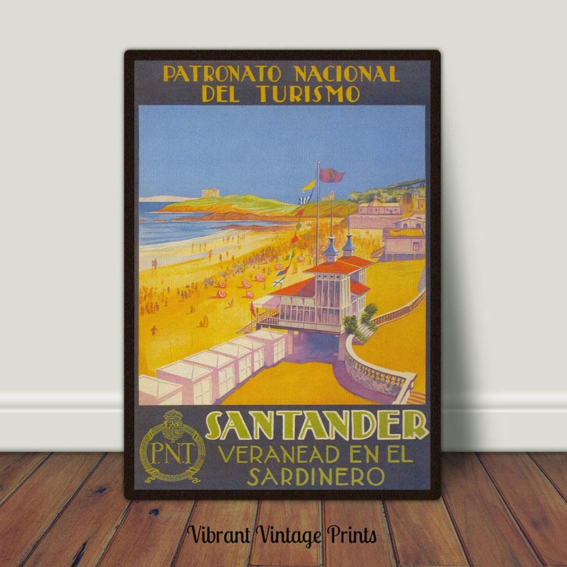 Kunst Vintage Cordoba Spain Tourism  Poster A3 A2  Reprint