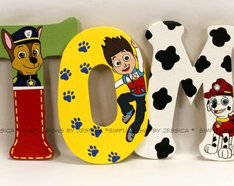 Paw Patrol Inspired custom lettering for Nursery, kids room, or playroom  wooden letters