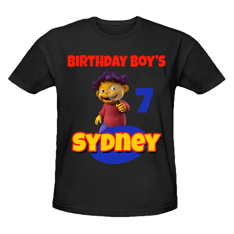 Sid The Science Kid Birthday Shirt Personalized Name and ...