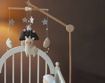 Style-A Focalmotors Baby Wooden Mobile Hanger,Mobile kit Crib,Mobile Hanging Frame Bed Toy Decoration DIY Crafts Photography Props Newborn Gift