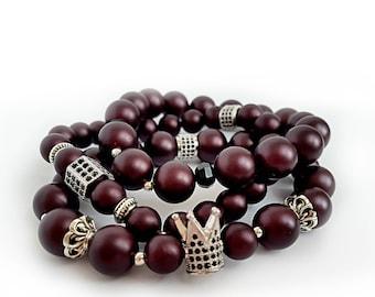 Bracelet Morello Pearls of Mallorca CZ