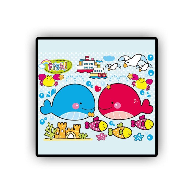 Malen Nach Zahl Meer Farbe Durch Zahl Kits Für Kinder Malen Nach Zahlen Leinwand Acryl Cartoon Kunst Kinder Zimmer Dekor Cartoon Kunst