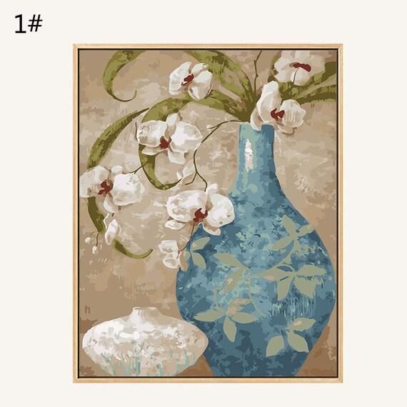 3 Ensembles De Peinture Par Numero Numero Par Fleurs Abstrait
