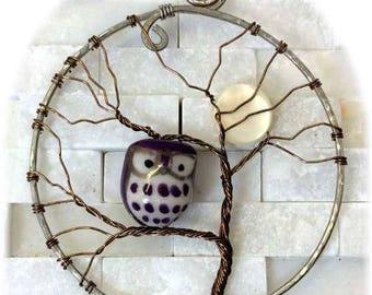 Moon Tree With Owl Pendant