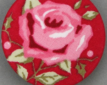 Covered button with mistletoe - the Rose - - diameter 40 mm - 40-03
