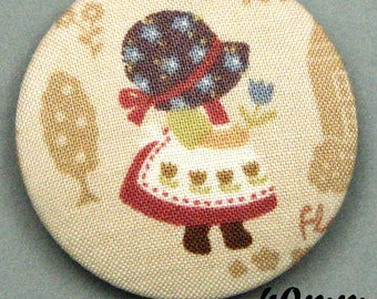 Fabric - Sunbonnet - covered button Sunbonnet Sue (40-09)