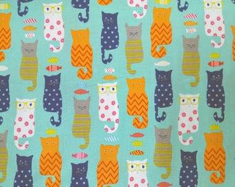 Cats - stylized cats - children fabric - fabric by Riley Blake fabric
