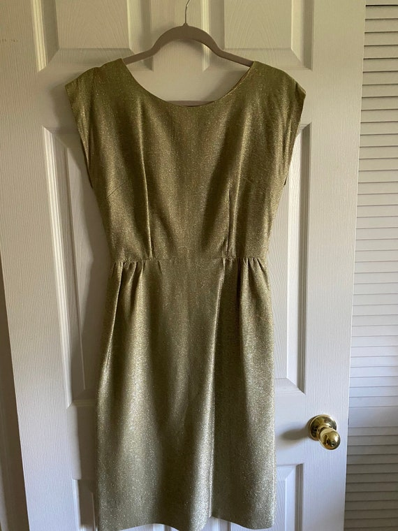 Vintage ladies dress gold lame true vintage